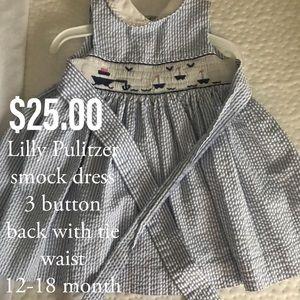 Lilly Pulitzer smocked sailboat dress